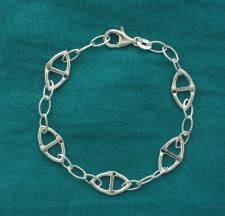 Braccialetto argento catena traversino. Gioielli argento.