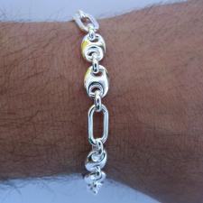 Bracciale uomo catena argento - Braccialetto uomo Timone