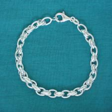 Braccialetto donna argento maglie ovali