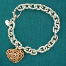 Bracciale argento con placcatura in oro rosa