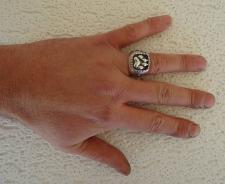 Anello uomo in argento 925 impronta zampa