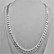 Sterling silver solid diamond cut curb necklace 8mm x 2.5mm. LENGTH 60 CM.