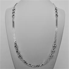 Sterling silver men's nautical necklace