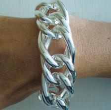 Sterling silver curb bracelet 24mm.