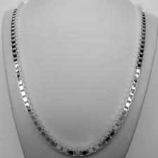 Sterling silver italian box chain necklace 4.7mm