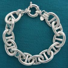 Bracciale argento traversino 15mm - Bracciale donna argento 925