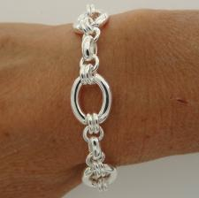 925 silver oval link bracelet made in italy