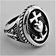 Anello argento fede amore speranza
