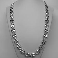 CLASSICA Collana maglia marina in argento 925. Larghezza maglia 12mm. Lunghezza 60 cm.