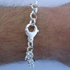 Sterling silver ship's wheel bracelet