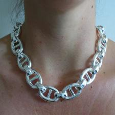 Anchor chain necklace in sterling silver