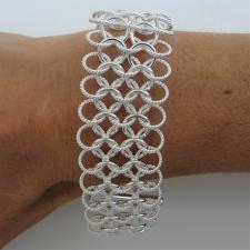 Solid sterling silver bracelet large link 26mm.