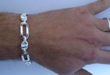 Men's silver bracelet in sterling silver made in italy