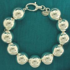 Sterling silver bead bracelet for woman - 16mm