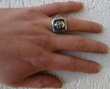 Chevalier argento brunito con teschio