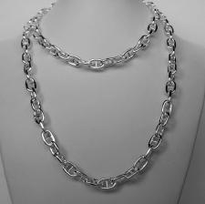 Collana lunga maglia traversino in argento 925