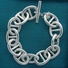 Bracciale maglia traversino argento