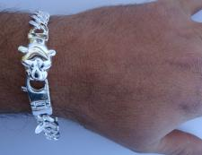 Sterling silver panther bracelet for men