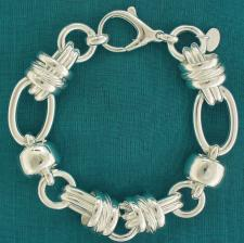 Women's ladies sterling silver bracelet.