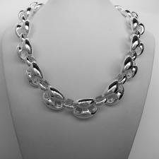 Sterling silver women's maglia marina link necklace