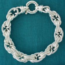 Sterling silver byzantine bracelet.