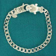 Men's sterling silver bracelet with panther head