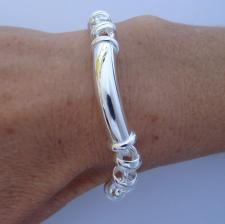 Handmade 925 silver bracelet 9mm. Made in Italy.