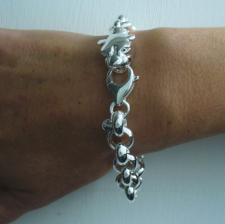 Women's silver bracelet with panther head