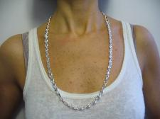 Silver mariner necklace for mens