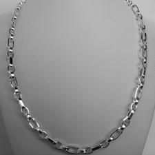 Collana uomo argento 925 catena maglia alternata.