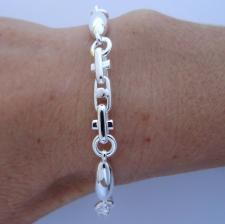 Handmade 925 silver bracelet 6mm. Made in Italy.