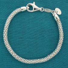 Bracciale argento maglia Pop Corn lineare 4,5mm.