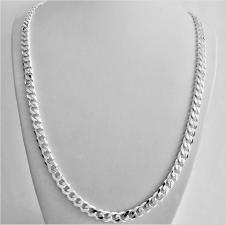Sterling silver solid diamond cut curb necklace 6.5mm x 2.3mm. LENGTH 60 CM.