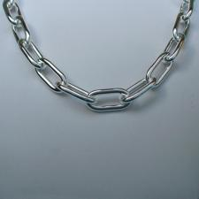 Long links necklace in sterling silver