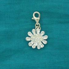 Ciondolo fiore margherita in argento 925. Charme argento 925