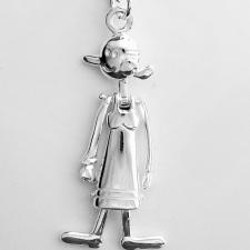 Collana argento pendente olivia.
