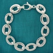 Bracciale argento 925 maglie piatte - Bracciale donna godronato