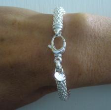 Sterling silver pop corn bracelet