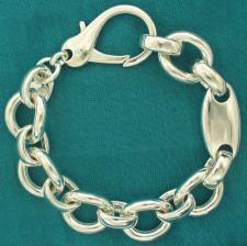 Bracciale in argento 925 fantasia.