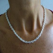 925 silver oval link necklace 6mm