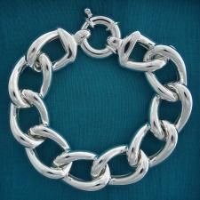 Bracciale argento 925 maglia grometta 18mm