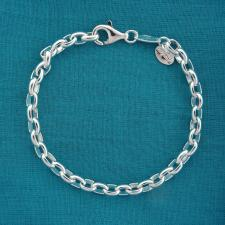 Sterling silver oval link bracelet 5mm