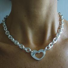 Sterling silver necklace with heart
