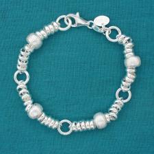 925 silver textured bracelet