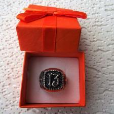 Anello argento con numero tredici 13