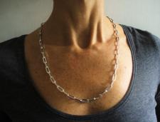 Collana uomo argento 925 catena allungata