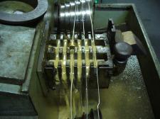 Collana lunga maglia traversino argento chiusuta a T-bar