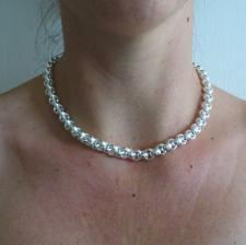 Round rolo necklace in sterling silver