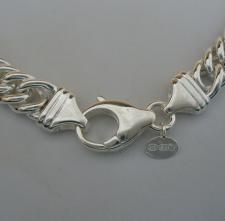 Sterling silver double curb necklace