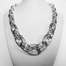 Sterling silver graduated necklace